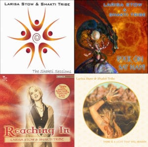 A display of digital music available from Larisa Stow & Shakti Tribe