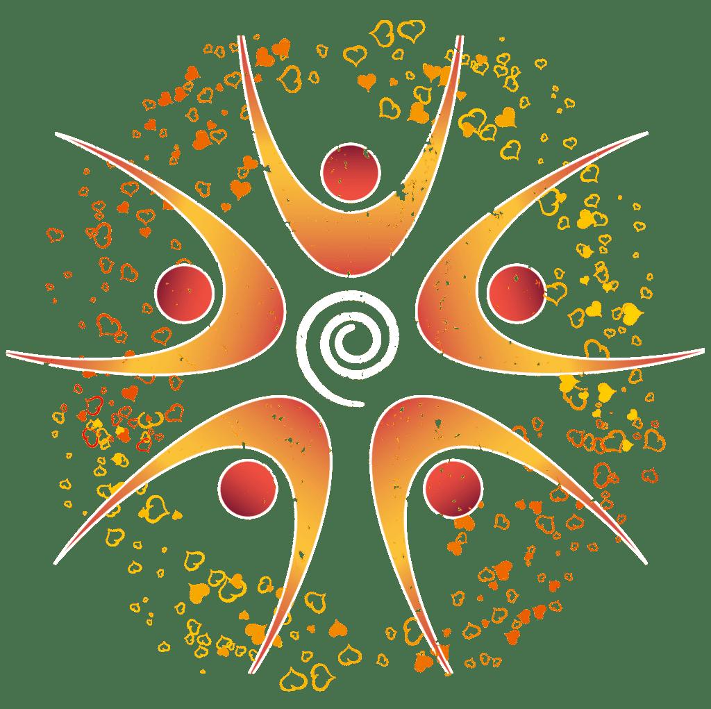 Shakti logomark with hearts